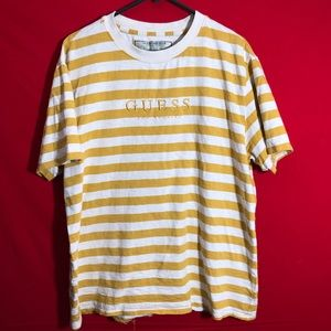 Yellow guess stripe shirt
